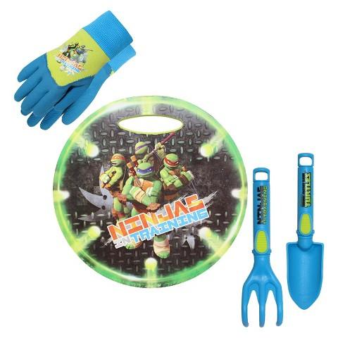 Teenage Mutant Ninja Turtles Kneeling Pad, Gripping Gloves and Tools