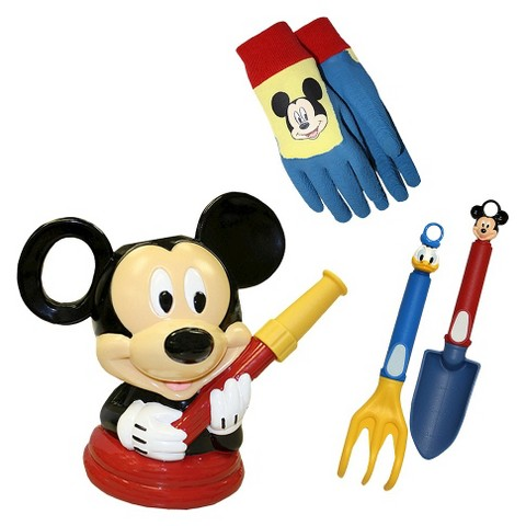 Mickey Mouse Watering Can, Gripping Gloves and Tools