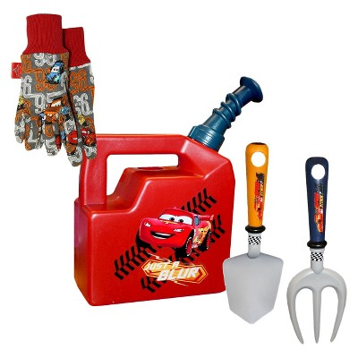 Disney Cars Watering Can, Jersey Gloves and Tools