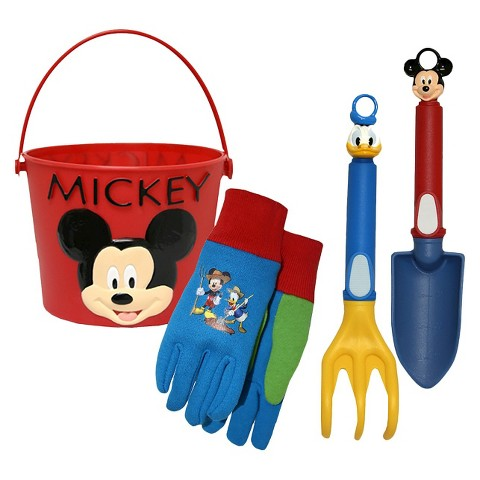 Mickey Mouse Bucket, Jersey Gloves and Tools