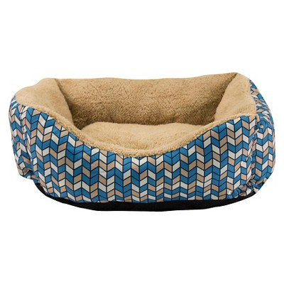 "Dallas Box Bed for Cats/Small Dogs with Microtec Sleep Surface - Blue (18"")"