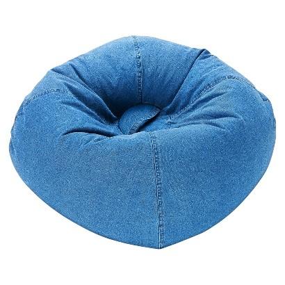 Ace Bayou Denim Bean Bag Chair - Blue