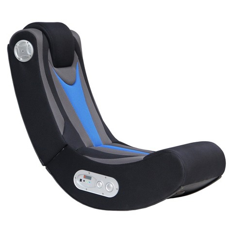 ACE BAYOU X-Rocker Gaming Chair - Black/Blue
