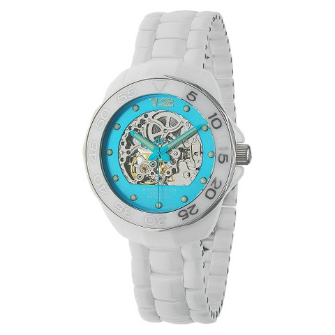 Android® Midsize Divemaster Mystic Ceramic Skeleton Watch - Aqua