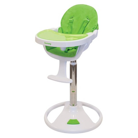 Harmony Ryze Pedestal High Chair - Green