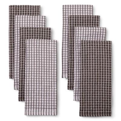 Ecom Room Essentials Earth Gray True White Uv Calibrated 13.9 X 6.1 X 3.8 Kitchen Towel