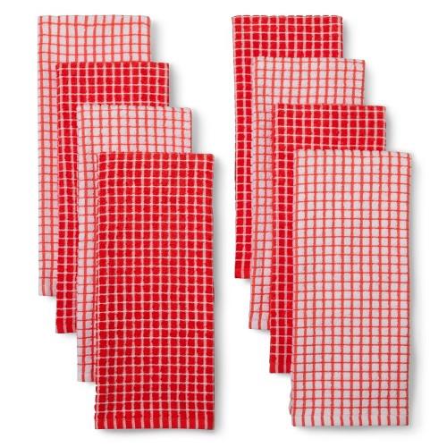 Room Essentials Grid Kitchen Towel Set Of 4