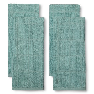 Ecom Room Essentials Caribbean Aqua 13.5 X 5.6 X 2.4 Kitchen Towel