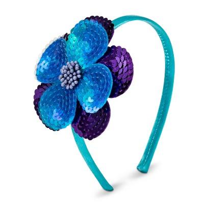 Xhilaration® Girls' Sequined Flower Headband - Turquoise
