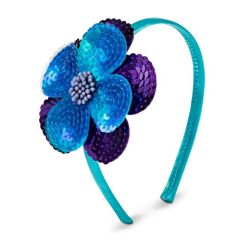 Girls' Sequined Flower Headband