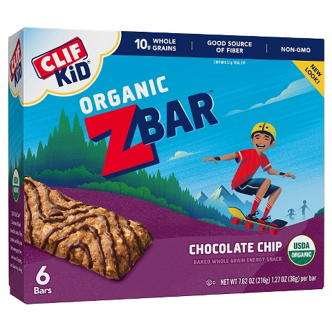 Clif Kid ZBar Organic Chocolate Chip Whole Grain Energy Snack