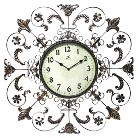 Infinity French Country Decorative Clock - Cream