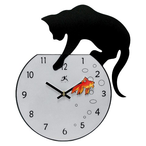 Infinity Instruments Cat and Fish Clock