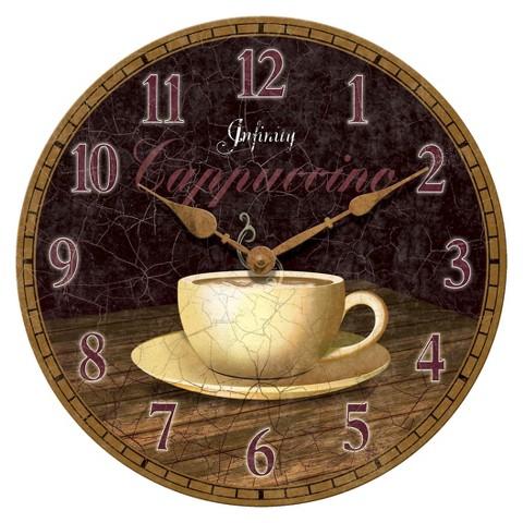 Infinity Instruments Cappuccino Coffee Shop Clock