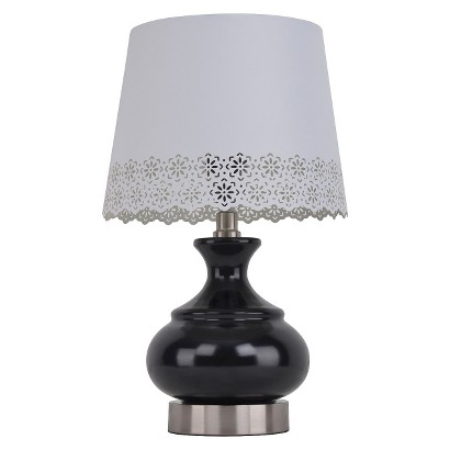 Xhilaration® White Punched Shade Table Lamp (Includes CFL Bulb)