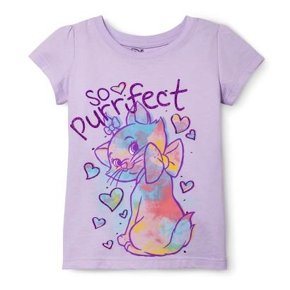Disney® Aristocats Infant Toddler Girls' Short Sleeve Tee - Spring Lilac