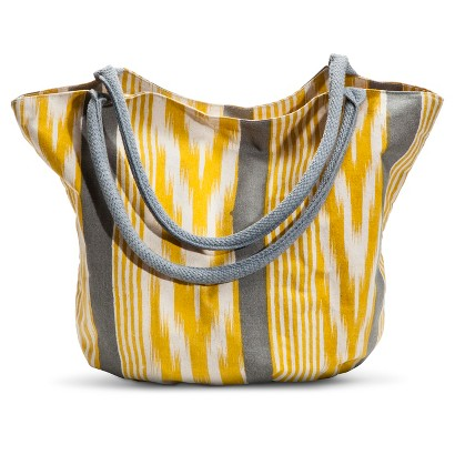Canvas Striped Bucket Handbag