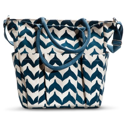 Torana Chevron Weekender Tote Handbag - Navy