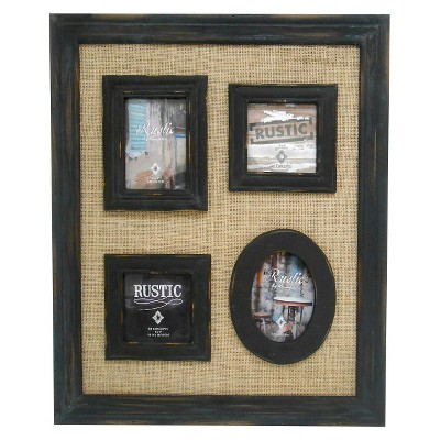 Ecom Birthday Multiple Image Frame 4X6 Black Multiple Openings