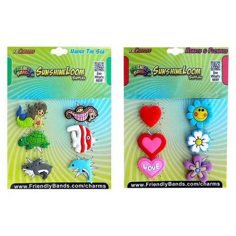 Sunshine Loom Charms 2Pk-Sea Love Flower