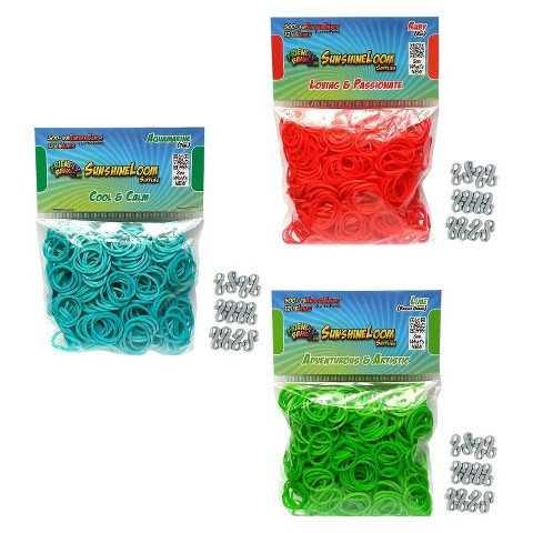 Sunshine Loom Rubberbands - Brights Pack