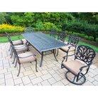 Hampton 9-Piece Aluminum Rectangular Patio Dining Furniture Set