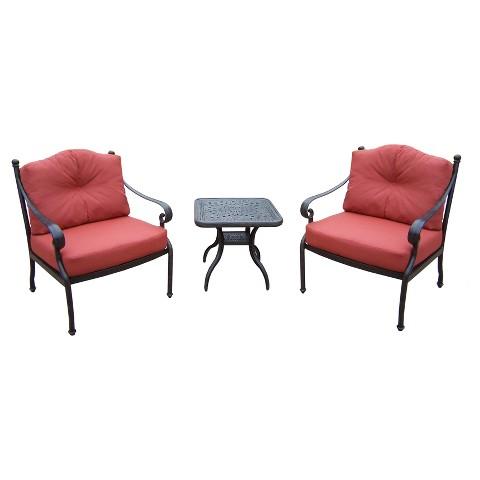 Berkley 3-Piece Aluminum Conversation Furniture Set