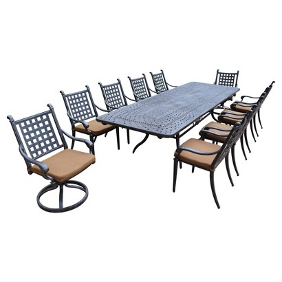 Rosemont 11-Piece Aluminum Patio Dining Furniture Set