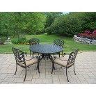 Hampton 5-Piece Aluminum Patio Dining Furniture Set