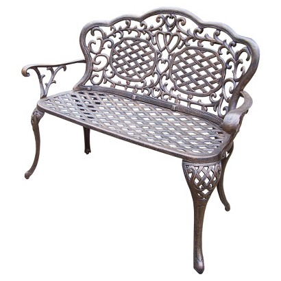 Mississippi Cast Aluminum Patio Loveseat Bench