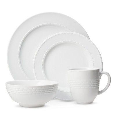 Threshold™ Dashed Line 16-pc. Dinnerware Set - White