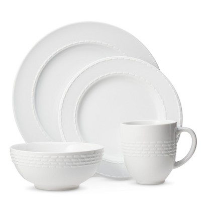 Threshold™ Dashed Line 16-piece Dinnerware Set - White