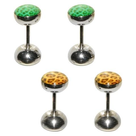 Women's Supreme Jewelry™ Fake Plug Ear Ring - Orange/Green