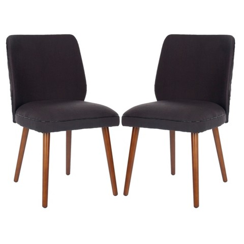 Surat Dining Chair Wood Dark Purple Set of 2 Tar