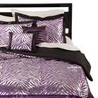 Sassy Zebra Comforter Set - Purple