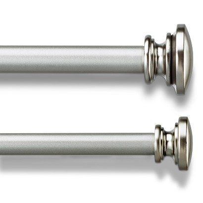 umbra capasa double curtain rod silver product details page