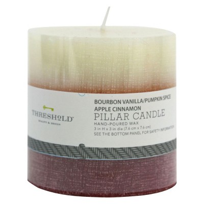 Trio Apple Cinnamon Mottled Candle 3x3 - Threshold™