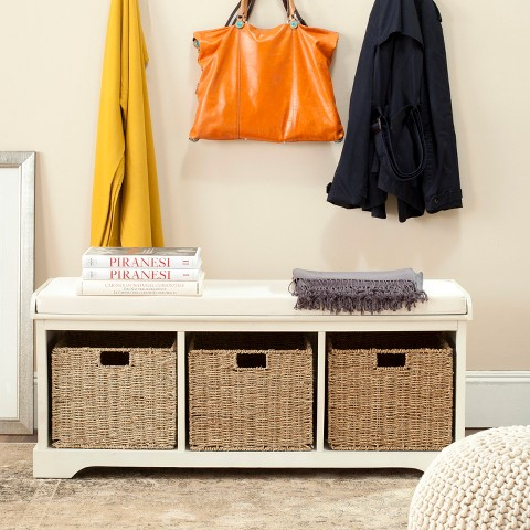 Safavieh Lonan Storage Bench - White