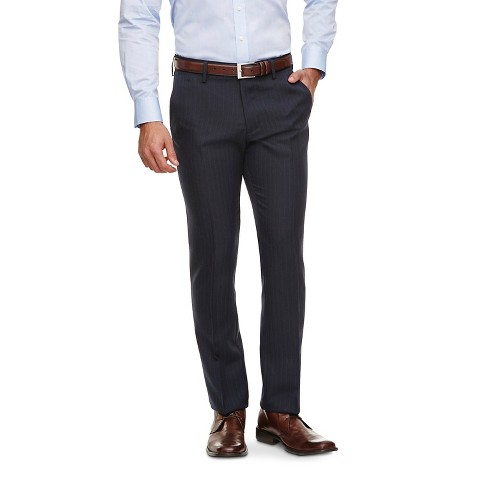 Haggar H26 - Men's Slim Fit Performance Trousers Navy