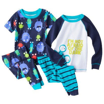 Just One You™ Made by Carter's&#174  Boys' 4-Piece Long-Sleeve and Short-Sleeve Monster Pajama Set