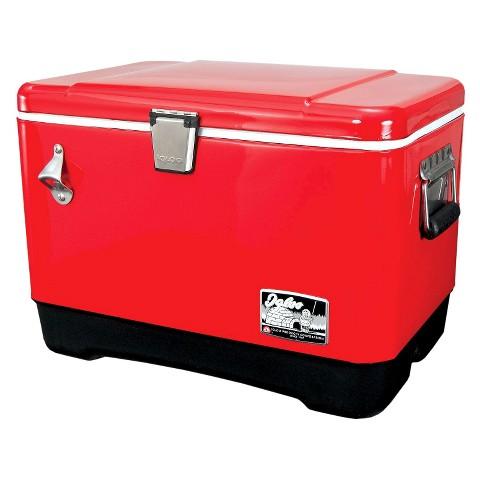 Steel 54 Quart Cooler - Red