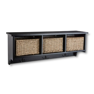 Threshold™ Wall Organizer with Baskets - Black