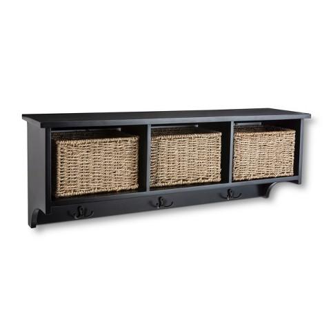 entryway organizer shelf with seagrass baskets target. Black Bedroom Furniture Sets. Home Design Ideas