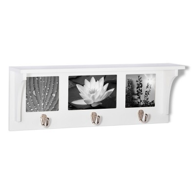 Threshold™ 3 Hook Wall Shelf - White