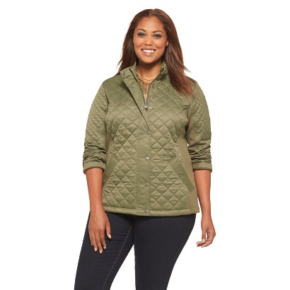 Women's Plus Size Long Sleeve Quilted Jacket-Pure Energy