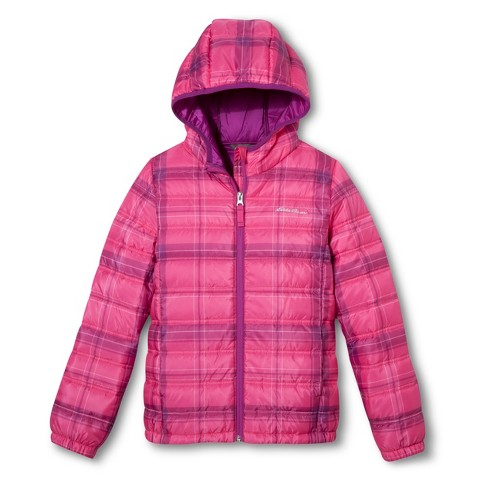 Eddie Bauer® Girls' Plaid Quilted Puffer Jacket