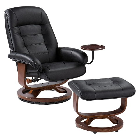 Southern Enterprises Bonded Leather Recliner & Ottoman