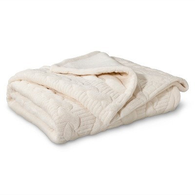 "Threshold™ Quilted Cable Plush Throw - Shell (50""X60"")"