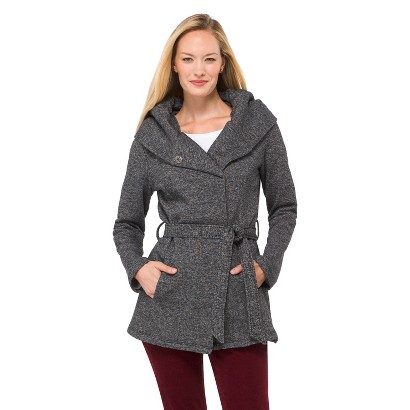 Women's Fleece Wrap Jacket Black