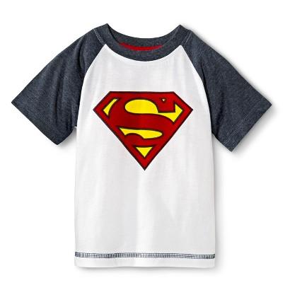 Superman Infant Toddler Boys' Raglan Short Sleeve Tee